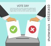 vector illustration voting... | Shutterstock .eps vector #435231610
