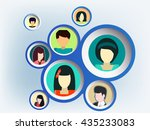 connection people | Shutterstock .eps vector #435233083