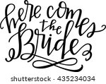 here comes the bride | Shutterstock .eps vector #435234034