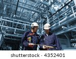 engineers inside refinery with... | Shutterstock . vector #4352401