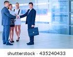 full length image of two... | Shutterstock . vector #435240433