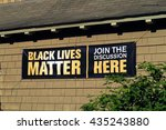 sign on the side of a building... | Shutterstock . vector #435243880