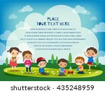 kids playing in the park vector ... | Shutterstock .eps vector #435248959
