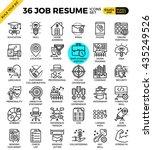 job resume outline icons modern ... | Shutterstock .eps vector #435249526