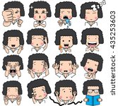 set of cartoon character... | Shutterstock .eps vector #435253603