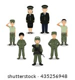 military characters cartoon... | Shutterstock .eps vector #435256948