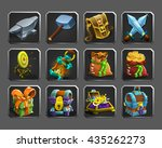 set of decoration icons for...