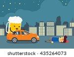 man injured and senseless after ... | Shutterstock .eps vector #435264073