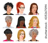 different female avatars.... | Shutterstock .eps vector #435267094
