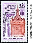france   circa 1973  a stamp... | Shutterstock . vector #435269518