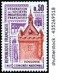 france   circa 1973  a stamp...   Shutterstock . vector #435269518