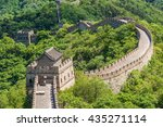 great wall of china | Shutterstock . vector #435271114