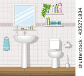 illustration of a bathroom | Shutterstock .eps vector #435271834