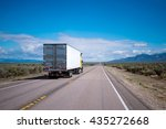 yellow powerful big rig semi... | Shutterstock . vector #435272668