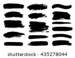 set of black paint  ink brush... | Shutterstock .eps vector #435278044