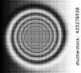 black and white halftone spiral ... | Shutterstock . vector #435278938