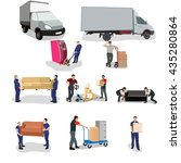 moving house  moving office ... | Shutterstock .eps vector #435280864