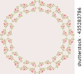 decorative frame flowers style... | Shutterstock .eps vector #435283786