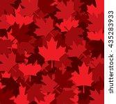 canadian maple leaf scatter... | Shutterstock .eps vector #435283933