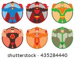 vector set of round frames with ... | Shutterstock .eps vector #435284440
