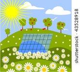 solar panel in nature | Shutterstock .eps vector #43528918
