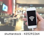 free wi fi hotspots at stores... | Shutterstock . vector #435292264