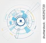 interface technology  the... | Shutterstock .eps vector #435292720
