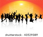 illustration of people jumping | Shutterstock .eps vector #43529389