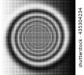 black and white halftone spiral ... | Shutterstock . vector #435304234