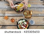 take away  food in plasmasovy... | Shutterstock . vector #435305653