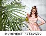 beautiful sexy woman wear... | Shutterstock . vector #435314230