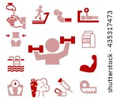 healthy icons set | Shutterstock .eps vector #435317473