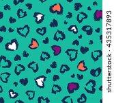 seamless leopard pattern  | Shutterstock .eps vector #435317893