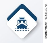 ship boat icon | Shutterstock .eps vector #435318070