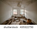 the apartment is in a ruined... | Shutterstock . vector #435322750