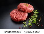 home handmade raw minced beef... | Shutterstock . vector #435325150