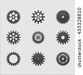 cogwheels set | Shutterstock .eps vector #435328810