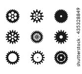 flat gear set | Shutterstock .eps vector #435328849