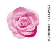Polygonal Pink Rose Top View...