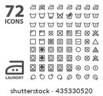 laundry and washing icon set.... | Shutterstock . vector #435330520