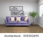 interior with sofa. 3d... | Shutterstock . vector #435342694