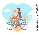 cute flat vector illustration... | Shutterstock .eps vector #435347839