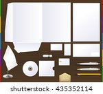 vector white corporate id brand ... | Shutterstock .eps vector #435352114