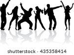 dancing people silhouettes. | Shutterstock .eps vector #435358414