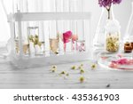 process of making perfumes | Shutterstock . vector #435361903