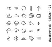 collection of linear weather... | Shutterstock .eps vector #435364426