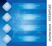 four step banner diagram ... | Shutterstock .eps vector #435369160