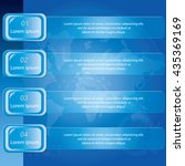 four step banner diagram ... | Shutterstock .eps vector #435369169