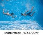 Swimming Underwater Couple  In...