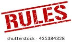 rules stamp.stamp.sign.rules. | Shutterstock .eps vector #435384328